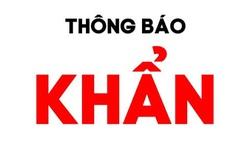 Bộ Y tế tìm người trên chuyến xe khách 30V-4157 đi tuyến Hà Nội- Lạc Sơn