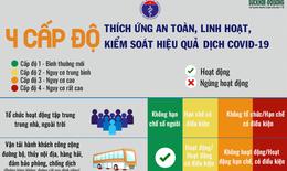 [Infographic] - 4 cấp độ 'thích ứng an toàn' với dịch COVID-19