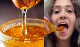 """Trào lưu ăn """"mật ong đông lạnh"""" trên TikTok - đừng đùa giỡn với sức khỏe"""