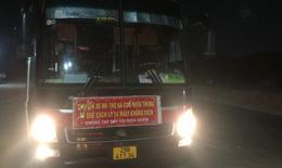 Phát hiện xe khách chở 39 người từ các tỉnh có dịch phía Nam về quê trái phép