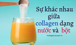 Sự khác nhau giữa collagen dạng nước - collagen dạng bột