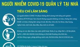 [Infographic] Hướng dẫn tạm thời về quản lý người nhiễm COVID-19 tại nhà