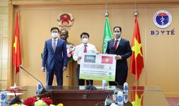 Bộ Y tế tiếp nhận gói hỗ trợ 500.000 USD phòng chống dịch từ Vương quốc Ả Rập Xê Út