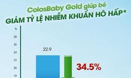 Colosbaby Gold giúp tăng cường miễn dịch, giảm tỷ lệ nhiễm khuẩn hô hấp, giảm tỷ lệ rối loạn tiêu hóa và giúp tăng cân tốt