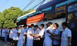 23 cán bộ y tế Điện Biên lên đường hỗ trợ Bình Dương chống dịch