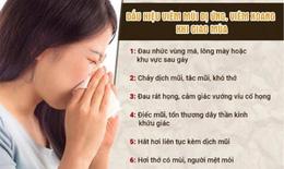 Viêm mũi, xoang do thay đổi thời tiết có chữa được không?