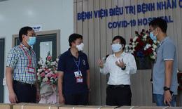 Gấp rút hoàn thiện hệ thống máy lọc nước uống trực tiếp tại bệnh viện dã chiến Hà Nội