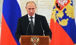 Putin: Không ai có thể hăm dọa hay cô lập Nga