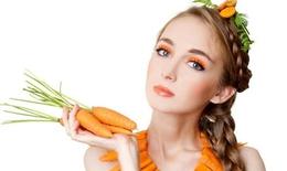 Da sáng, sạch mụn bằng mặt nạ cà rốt