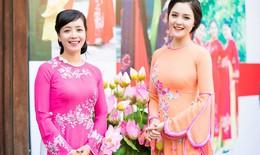Á hậu Hoàng Anh và diễn viên Chiều Xuân đọ dáng với áo dài