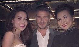 Hồ Ngọc Hà, Thanh Hằng thân mật bên David Beckham
