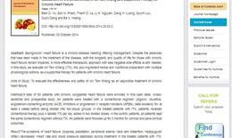 Tạp chí quốc tế giới thiệu nghiên cứu về sản phẩm Ích Tâm Khang cho bệnh tim