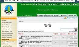 Trang web của sở ở Hậu Giang có đường link phim sex