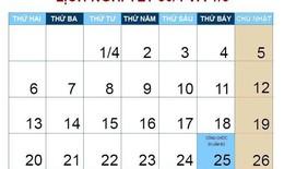 Chính thức thông báo lịch nghỉ lễ dài 6 ngày