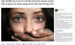 """Đoạn status khiến ai cũng giật mình: """"Đừng đăng bất cứ điều gì về con bạn lên Facebook"""""""