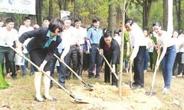 """Vinamilk và quỹ """"1 triệu cây xanh cho Việt Nam"""" trồng cây tại Ngã ba Đồng Lộc"""