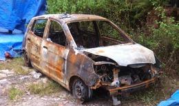 Nhóm cướp lột quần áo tài xế rồi đốt xe taxi Mai Linh