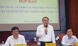 Nguồn nước là nguyên nhân gây sự cố lọc máu tại Nghệ An