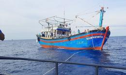 Cứu thành công tàu cá và 15 thuyền viên bị nạn.