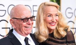 Tỷ phú Rupert Murdoch và Jerry Hall bất ngờ đính hôn