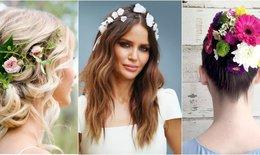 12 kiểu tóc với hoa ngọt ngào cho mùa xuân