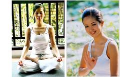 Hồng Nhung tươi trẻ nhờ yoga