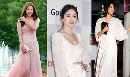 Váy dạ tiệc tuổi 30+ theo phong cách Song Hye Kyo và Park Shin Hye