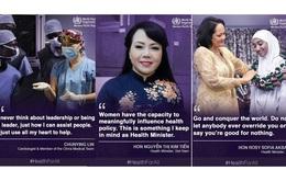 WHO đăng thông điệp của những phụ nữ đóng góp nhiều cho y tế