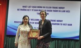 Bộ trưởng Y tế Nguyễn Thị Kim Tiến tiếp Bộ trưởng Y tế Đan Mạch