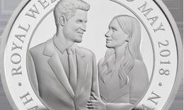 Đồng xu in hình Hoàng tử Harry và vợ sắp cưới