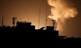 Không kích nổ ra ở dải Gaza