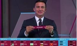 Việt Nam chung bảng với nhiều đối thủ ở Đông Nam Á tại vòng loại World Cup