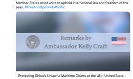 Mỹ gửi công hàm lên Liên Hợp Quốc  phản đối Trung Quốc ở Biển Đông