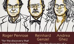 3 nhà khoa học nghiên cứu về hố đen vũ trụ giành giải Nobel vật lý 2020