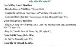 Các địa điểm cách ly y tế trên địa bàn Hà Nội