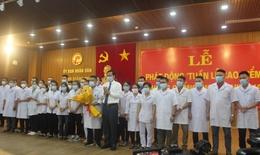 Ngành y tế Quảng Trị lên đường hỗ trợ Bình Dương chống dịch