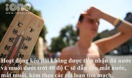 5 mối nguy đáng sợ của thời tiết nắng nóng 40 độ C