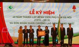 BV phụ sản Hà Nội đón nhận Huân chương Lao động hạng Nhất