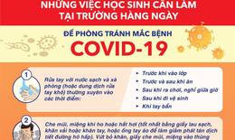 Học sinh làm gì để tránh mắc COVID-19 tại nhà, ký túc xá và trường học?