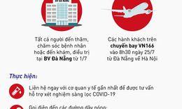 Bộ Y tế khẩn tìm người trên chuyến bay VN166 từ Đà Nẵng về Hà Nội
