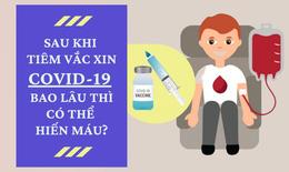 Sau khi tiêm vắc xin COVID-19 bao lâu thì có thể hiến máu?