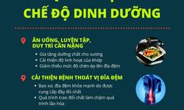 Chế độ dinh dưỡng và thực phẩm phù hợp cho người thoát vị đĩa đệm