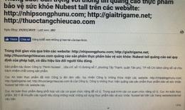 Không mua/sử dụng thực phẩm bảo vệ sức khỏe: Nubest tall, Calsea Bone quảng cáo trên một số website