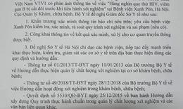 Bộ Y tế đề nghị làm rõ vụ việc cắt đôi que thử HIV, viêm gan B tại BVĐK Xanh Pôn