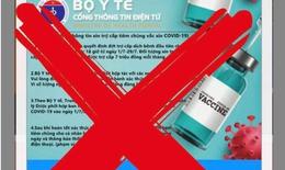 Cảnh báo: Trang web giả mạo cổng thông tin điện tử của Bộ Y tế