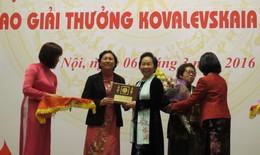 Hai nhà khoa học nữ được nhận giải thưởng Kovalevskaia 2015