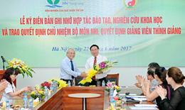 Học viện Y Dược học cổ truyền VN kết hợp với BV Nhi TW đẩy mạnh đào tạo chuyên ngành Nhi khoa