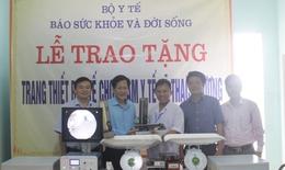 Báo Sức khỏe & Đời sống trao tặng trang thiết bị y tế cho trạm y tế xã Thạch Hương - Thạch Hà - Hà Tĩnh