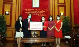Hội Chữ thập đỏ VN tiếp nhận vật dụng y tế cho 10 bệnh viện tuyến đầu điều trị COVID-19