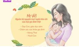 Mẹ Việt – Nguồn tài nguyên trực tuyến hữu ích của gia đình Việt